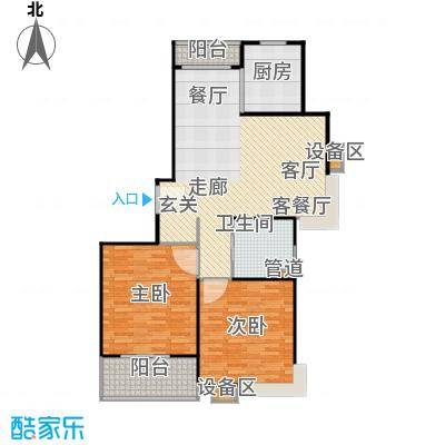 上海源花城户型2室1厅1卫1厨