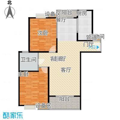 上海源花城90.00㎡房型: 二房; 面积段: 90 -115 平方米;户型