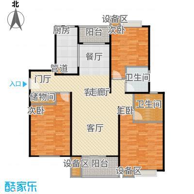 上海源花城124.91㎡房型: 三房; 面积段: 124.91 -145 平方米;户型
