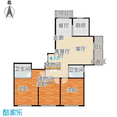 上海源花城144.58㎡D1户型 3房2厅2卫 144.58㎡户型3室2厅2卫