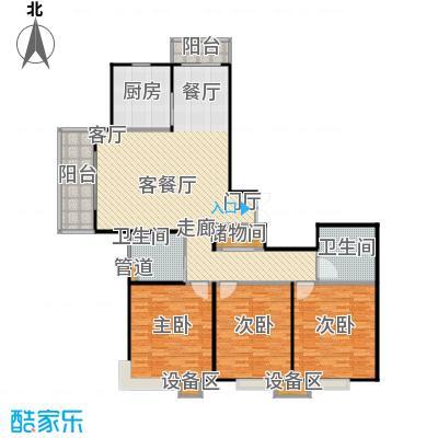 上海源花城户型3室1厅2卫1厨