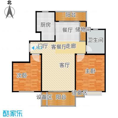 上海源花城96.79-96.94㎡两房户型