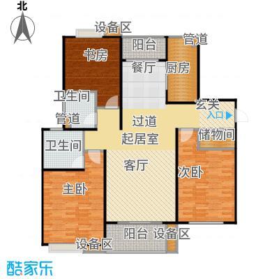 上海源花城3室2厅2卫-134.37平米户型