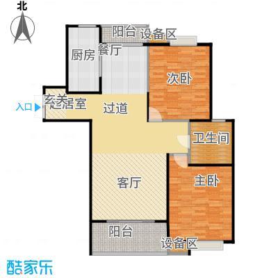 上海源花城100.00㎡二房二厅一卫-100-110平方米-36套户型