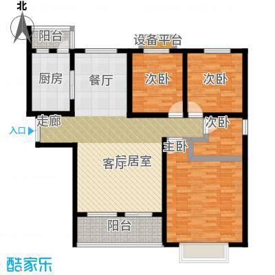 中原国际时代皇庭户型4室1厨