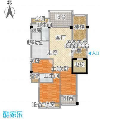 凯悦华庭105.25㎡2幢16-17房户型
