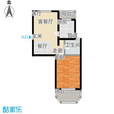 上泰绅苑71.81平方米一室户型