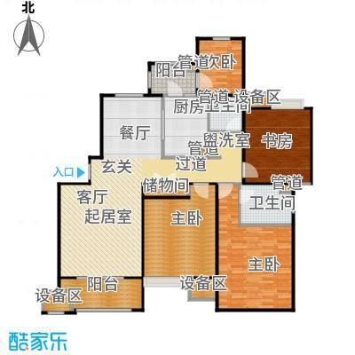 富顿街区H型约144平米3+1房户型