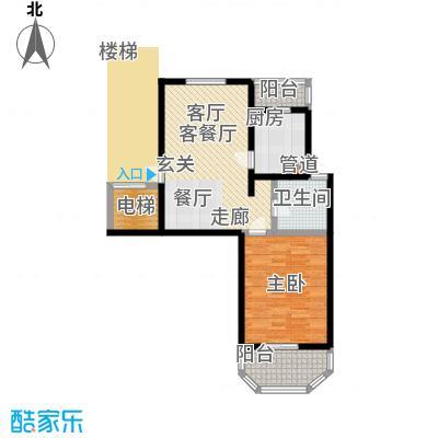 上泰绅苑70.00㎡松江房管(2009)预字0539号-一房两厅一卫-71.81平方米-6套户型