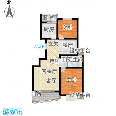 大华阳城花园(四期)88.00㎡房型: 二房; 面积段: 88 -104 平方米; 户型
