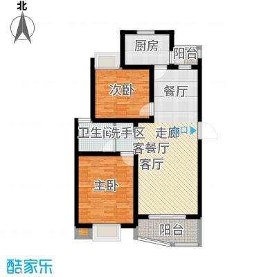大华阳城花园(四期)房型: 二房; 面积段: 88 -104 平方米; 户型