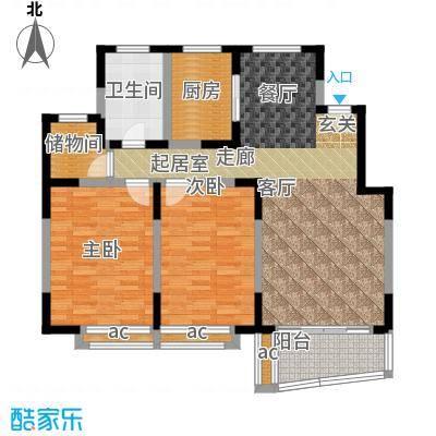 万荣阳光苑90.90㎡房型: 二房; 面积段: 90.9 -114 平方米; 户型