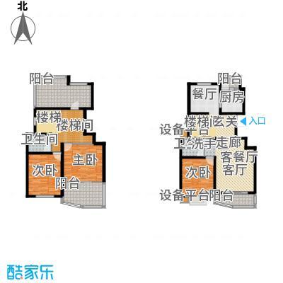 大华阳城花园(四期)房型: 复式; 面积段: 140 -200 平方米; 户型