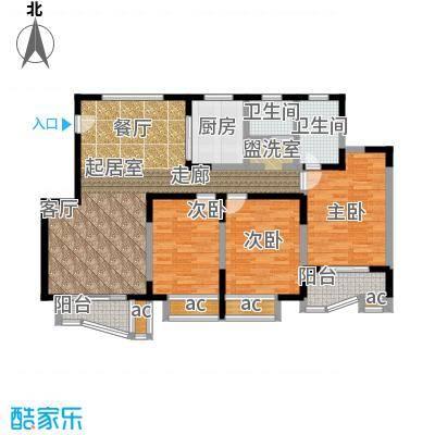 万荣阳光苑127.00㎡房型: 三房; 面积段: 127 -135 平方米; 户型