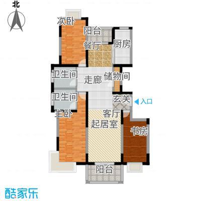 金港河滨华城135.00㎡房型: 三房; 面积段: 135 -145 平方米; 户型