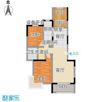 绿邑叠翠102.00㎡房型: 二房; 面积段: 102 -106 平方米; 户型