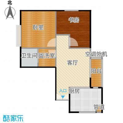 银星名庭71.00㎡房型: 二房; 面积段: 71 -133 平方米; 户型