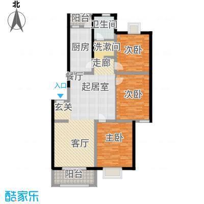 绿邑叠翠126.00㎡房型: 三房; 面积段: 126 -133 平方米; 户型