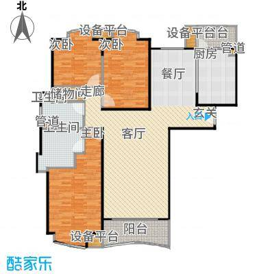 莱诗邸135.00㎡房型: 三房; 面积段: 135 -159 平方米; 户型