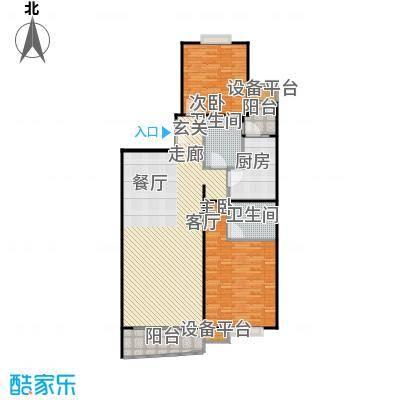 徐家汇景园120.96㎡房型: 二房; 面积段: 120.96 -120.96 平方米; 户型