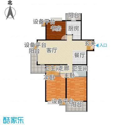 徐家汇景园124.63㎡房型: 三房; 面积段: 124.63 -150.4 平方米; 户型