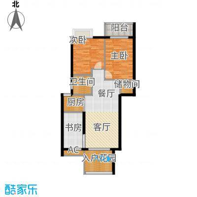 龙腾熙园94.00㎡B户型3室2厅