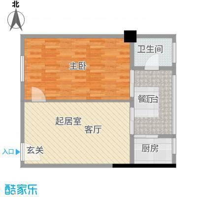 君悦春江花园72.74㎡第1幢4-13层04号房户型3室1厅1卫