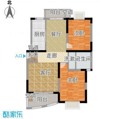 华谊星城名苑105.82㎡房型: 二房; 面积段: 105.82 -108.28 平方米; 户型
