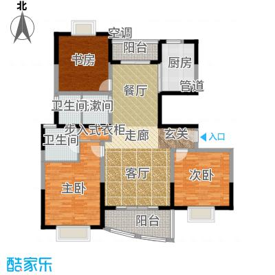 华谊星城名苑122.28㎡房型: 三房; 面积段: 122.28 -132.39 平方米; 户型