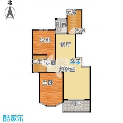 新江湾城雍景苑一期房型户型2室1卫1厨