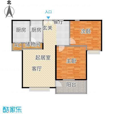 珠江香樟南园二期92.55㎡房型: 二房; 面积段: 92.55 -101.11 平方米; 户型
