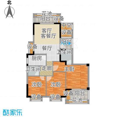 雅仕轩五期3房2厅2卫143.56平米三房户型