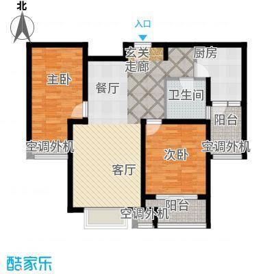 兴平昌苑99.83㎡房型: 二房; 面积段: 99.83 -106.96 平方米; 户型