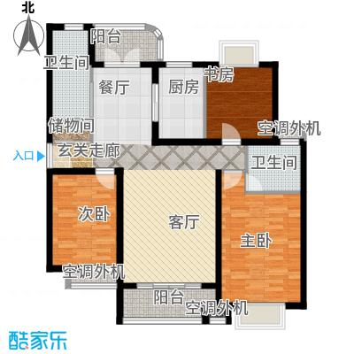 兴平昌苑135.88㎡房型: 三房; 面积段: 135.88 -140.13 平方米; 户型