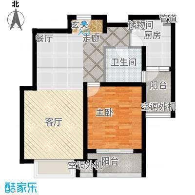 兴平昌苑85.09㎡房型: 一房; 面积段: 85.09 -87.64 平方米; 户型