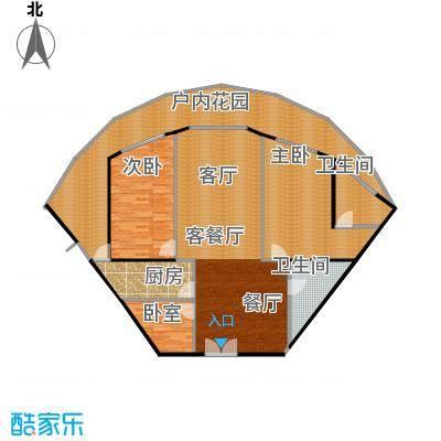 洱海龙湾户型2室1厅2卫1厨