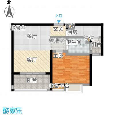 盛源家豪城70.00㎡房型: 一房; 面积段: 70 -80 平方米;户型