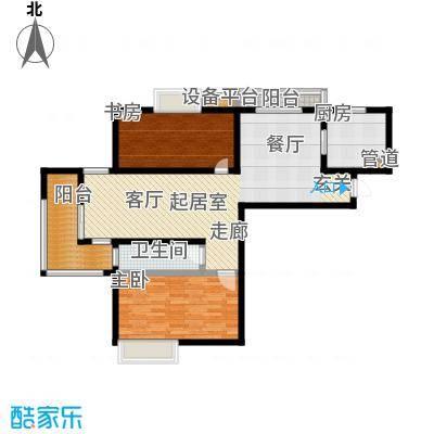盛源家豪城100.00㎡房型: 二房; 面积段: 100 -110 平方米;户型