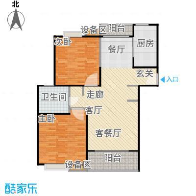 上海源花城102.71㎡D2户型 2房2厅1卫 102.71㎡户型2室2厅1卫