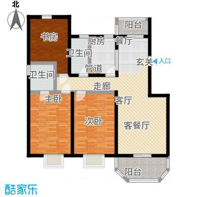 上泰绅苑125.73-125.89平方米三室户型