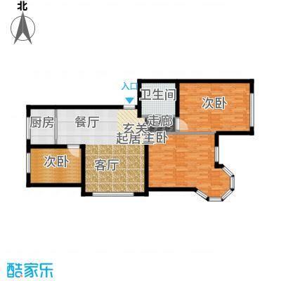 锦绣家园112.73㎡三室二厅一卫 112.73平米户型3室2厅1卫