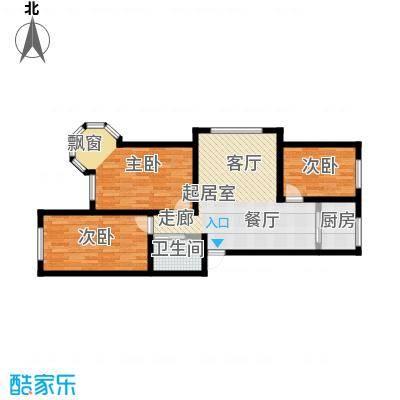 锦绣家园102.99㎡三室二厅一卫 102.99平米户型3室2厅1卫