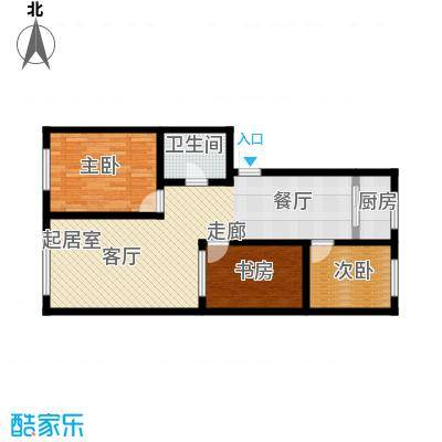 锦绣家园92.10㎡三室二厅一卫 92.10平米户型3室2厅1卫