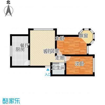 锦绣家园87.00㎡二室二厅一卫 87.0平米户型2室2厅1卫