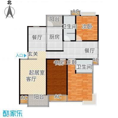 枫庭丽苑二期106.00㎡房型: 三房; 面积段: 106 -136 平方米;户型