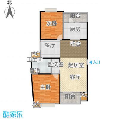 枫庭丽苑二期95.00㎡房型: 二房; 面积段: 95 -106 平方米;户型