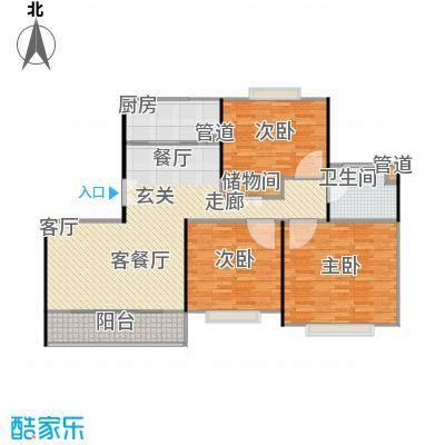 新月翡翠园115.94㎡房型: 三房; 面积段: 115.94 -135.93 平方米;户型