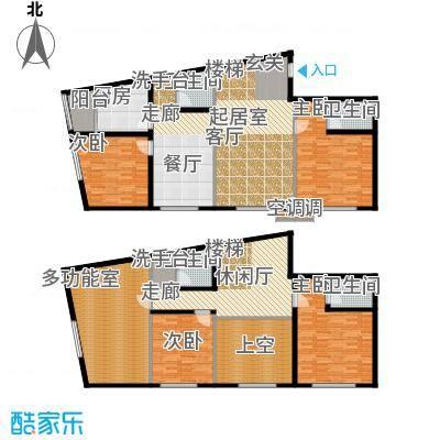 鑫源银座A号楼A-14 五室三厅四卫 约242.83平米户型