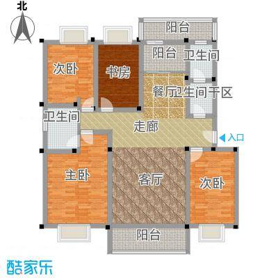 合顺景苑户型4室1厅2卫