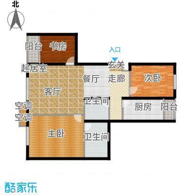 鑫源银座A号楼A-03 三室两厅双卫 129.72平米户型